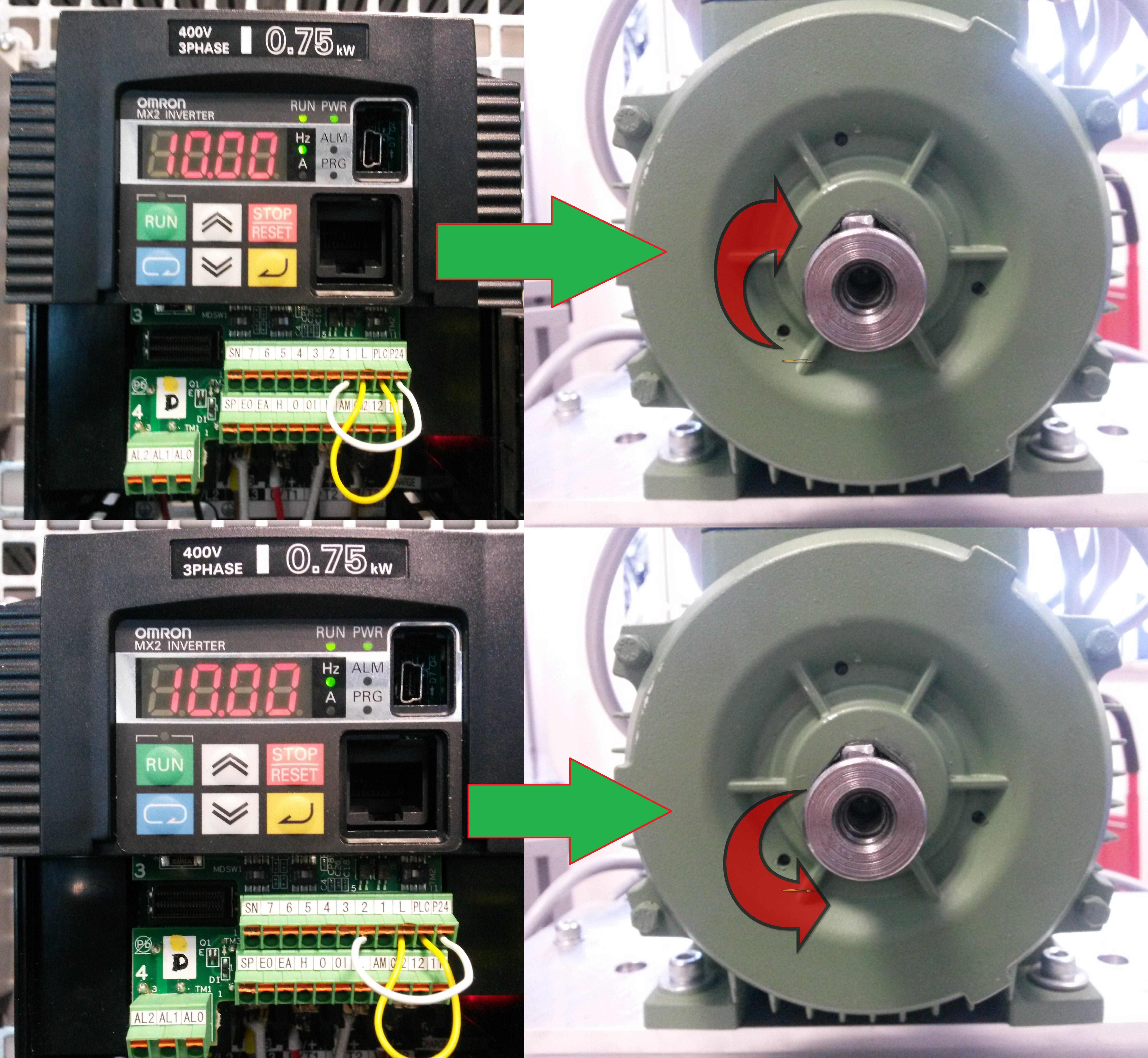 Driving asynchronous motor with multi-functional Frequency Inverter on